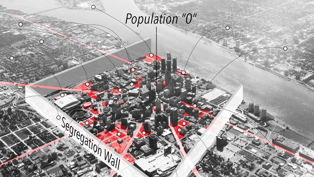 Segregation wall for city center