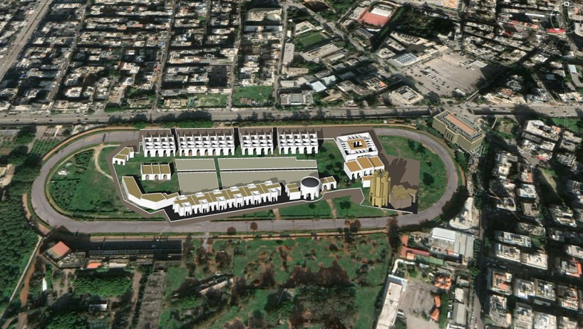 Bird view of the project, on the right corner up the hospital there is the National Musum of Beyrouth.